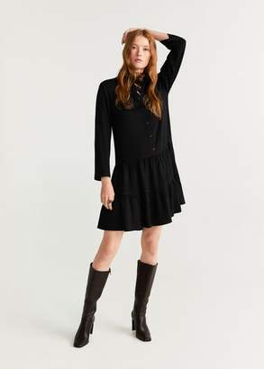 MANGO Ruffled shirt dress