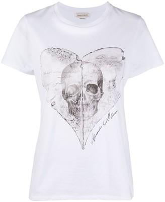 Alexander McQueen heart skull print T-shirt