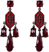RJ Graziano Scarlet Red Crystal Drop Earrings