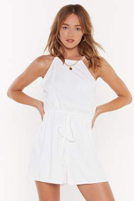 Nasty Gal Womens That'S A Strap Drawstring Tie Playsuit - White - 6, White