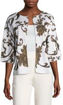 St. John Anthea Floral Sequin Jacket