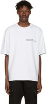 Pyer Moss Ssense Exclusive White Attorney T-shirt