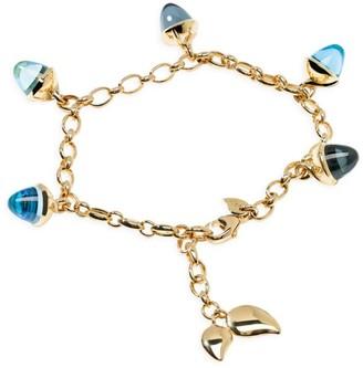 Tamara Comolli Mikado Flamenco 18K Yellow Gold & Blue Multi-Stone Acorn Charm Bracelet