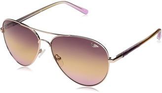 Diane von Furstenberg Women's DVF120S Katrina Aviator Sunglasses
