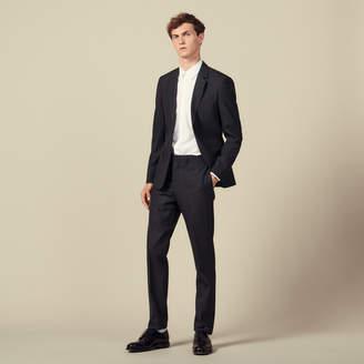 Topstitched suit pants