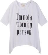 Ten Sixty Sherman I'm Not A Morning Person Tee (Big Girls)