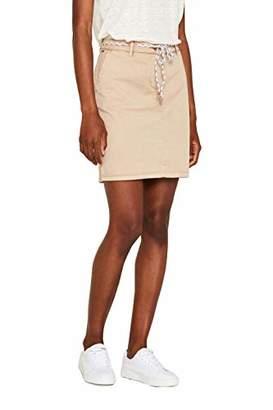 Esprit Women's 049ee1d005 Skirt, (Bordeaux Red 600), 8 (Size: )