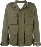 Valentino 'Rockstud' military jacket - men - Cotton/Linen/Flax/Lyocell - 48