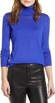 Halogen Turtleneck Merino Wool Blend Sweater