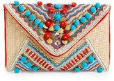 Shiraleah Beaded Envelope Clutch - Beige