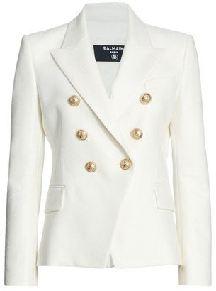 Balmain Double Breasted Crepe Jacket