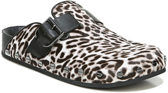 Veronica Beard Fern Animal-Print Fur Clogs