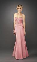 La Femme Elegant Semi-Sweetheart Evening Gown in Embellished Bodice 12221