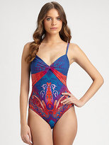 Gottex Swim One-Piece Shangrila Ruched Swimsuit