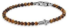 David Yurman Men's Spiritual Beads Cross Station Bracelet