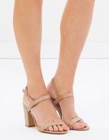Lavinia Leather Block Heels