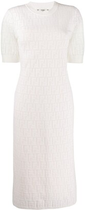 Fendi Loungette Logo Pattern Dress