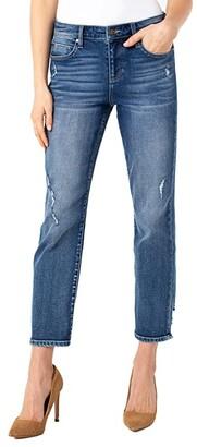 Liverpool Crop Straight Jeans in Kennedy (Kennedy) Women's Jeans