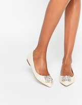 Asos LOOK UP Embellished Ballet Flats