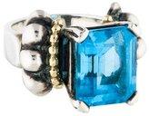 Lagos Two-Tone Blue Topaz Caviar Ring