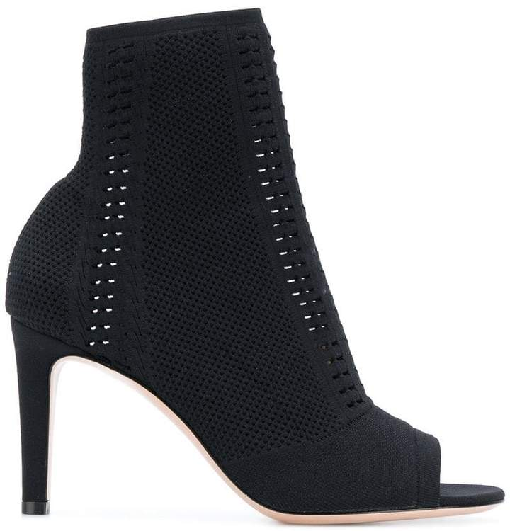 Gianvito Rossi open toe sock boots