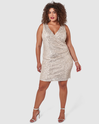 Pink Dusk - Women's Silver Midi Dresses - Its My Birthday Dress - Size One Size, 16 at The Iconic