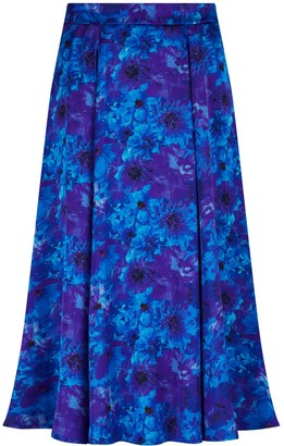 Isabel Manns Reversible Ceclila Skirt In Blue Admiral & Teal