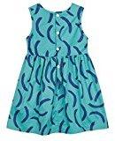 Fheaven Baby Girls Summer Princess Sleeveless Dress Buttons Pageant Sleeveless Print A-Line Dresses (5T)
