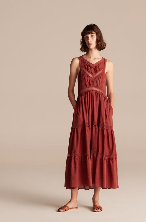 Rebecca Taylor La Vie Voile Lace Trim Dress