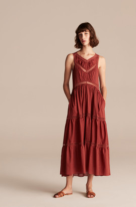 Rebecca Taylor La Vie Voile Lace Trim Dress