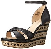 Nine West Women's Jacoby Leather Wedge Sandal