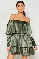 Nasty Gal I Can't Tier You Satin Mini Dress