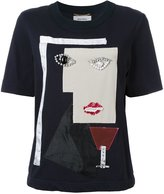 Muveil cubism patches T-shirt - women - Cotton - 38