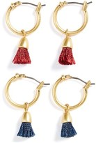 Madewell Tassel Hoop Earrings (Set of 2)