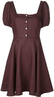 Callipygian button down mini dress