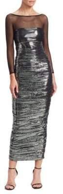 Chiara Boni Women's Gyan Lamé Illusion Maxi Dress