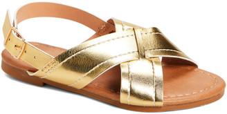 Ositos Shoes Girls' Sandals GOLD - Gold Crisscross Sandal - Girls