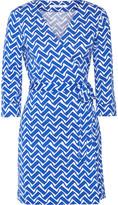 Diane von Furstenberg Julian printed cotton and silk-blend wrap mini dress