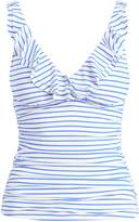 Ralph Lauren Ruffled Striped Tankini
