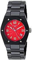 Swiss Legend Women's 10054-BKRTSA Throttle Analog Display Swiss Quartz Black Watch