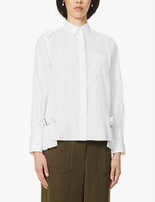 Sacai Pleated woven shirt
