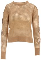 Minnie Rose Mesh Long Sleeve With Arm Cut-Outs