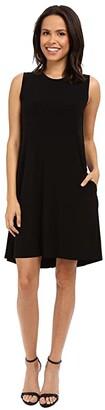 KAMALIKULTURE by Norma Kamali Sleeveless Swing Dress (Black) Women's Dress