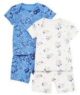 F&F 2 Pack of Letters and Numbers Pyjamas, Newborn Boy's