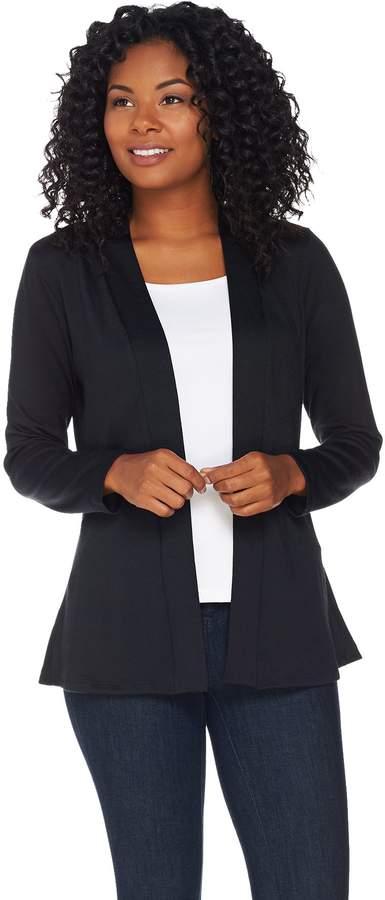 Denim & Co. Essentials Heavenly Jersey Cardigan with Peplum Back