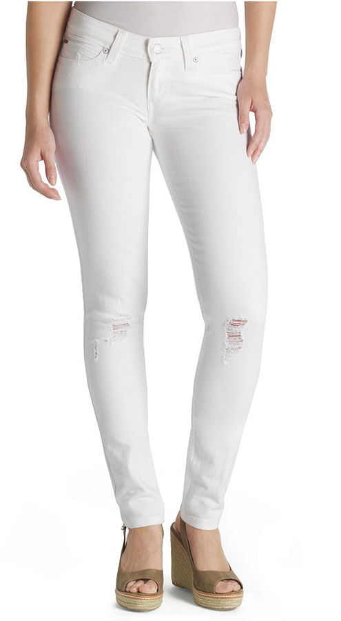 Levi's Jeans, Demi Curve Skinny Destroyed White Wash