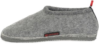 Giesswein Slipper Tambach Grey 46 - Closed Felt Slippers for Men & Women Changeable Footbed Warm Unisex House Shoe Mules Comfortable Slippers with Flexible Sole Non-Slip Barefoot Feeling
