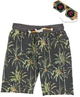 Scotch Shrunk Kids' Palm-Tree-Print Cotton French Terry Shorts