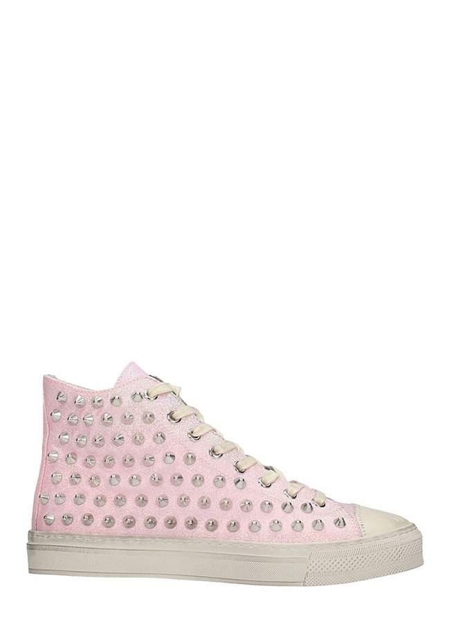 Gienchi J.michel Pink Glitter Sneakers