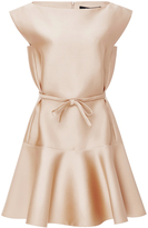 Paule Ka Duchesse Satin Flared Dress